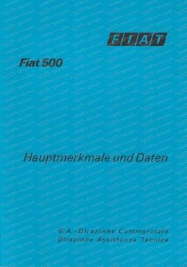 FIAT 500 Hauptmerkmale, techn. Daten