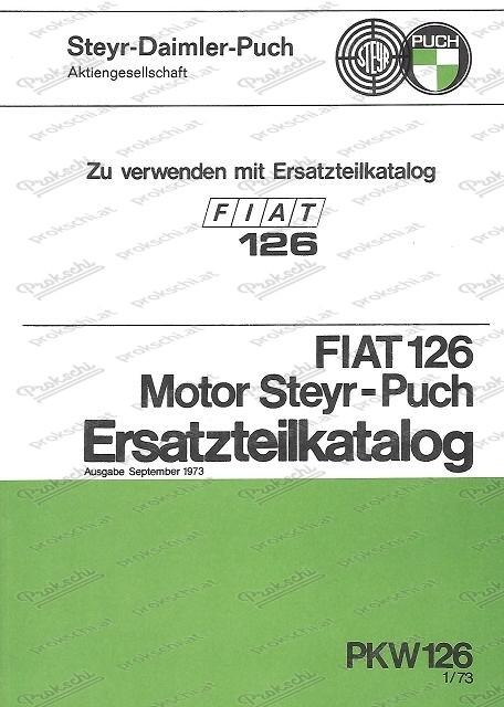 Fiat 126 Motor Steyr Puch - Ersatzteilkatalog