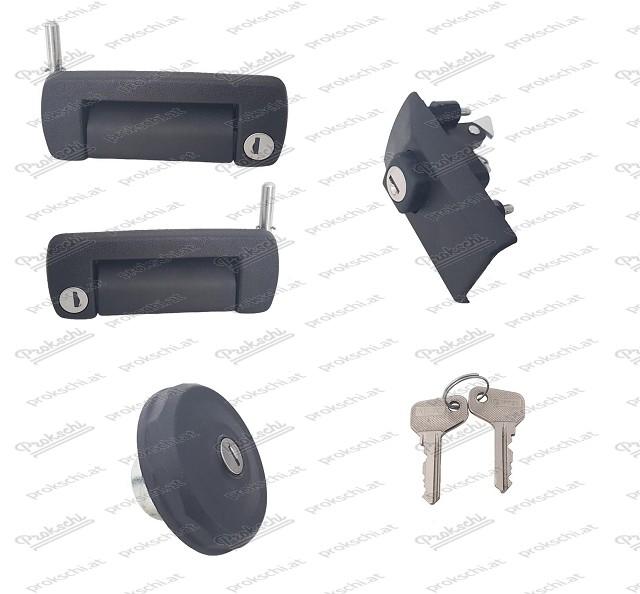 Türschlösser, Motorhaubenschloss und Tankdeckel - Satz für Fiat 126