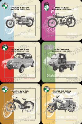 Puch Fahrzeuge - Untersetzer 6er Pack
