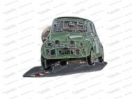 Anstecknadel Puch Auto grün