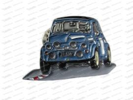 Anstecknadel Puch Auto dunkelblau
