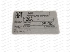 Typenschild Fiat 126