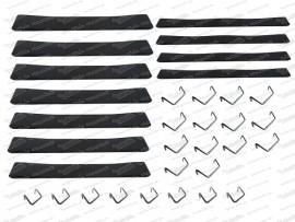 Sitzgummisatz 7 breite, 4 schmale inkl. Haken