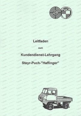 Leitfaden z. Kundendienst-Lehrgang Steyr Puch Haflinger