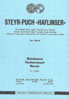 Betriebsanleitung Haflinger Englisch – Französisch - Spanisch