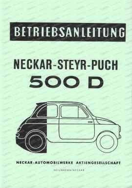 NSU Neckar Steyr Puch 500 D, Betriebsanleitung