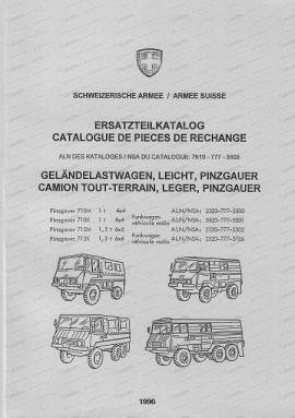 Steyr Puch Pinzgauer 710 M/K, 712 M/K, 4 x 4 und 6 x 6, Ersatzteilkatalog
