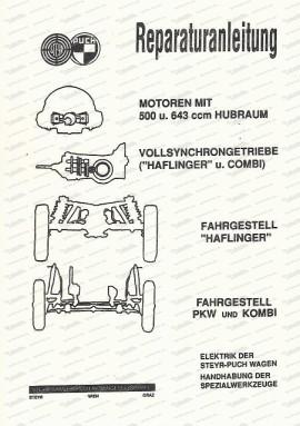 Reparaturanleitung Steyr Puch 500, 650, 700, Haflinger