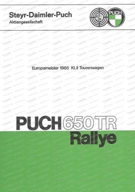 Puch 650 TR Rallye, Europameister 1966, Tuninganleitung