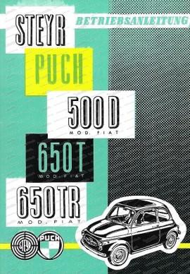 Betriebsanleitung 500D, 650T, 650TR (Europa)