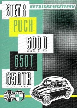 Betriebsanleitung 500D, 650T, 650TR (Altes Modell)