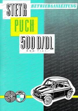 Betriebsanleitung 500 D / DL, Ausgabe 1960