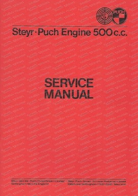 Service Manual Steyr Puch 500 c.c (English)