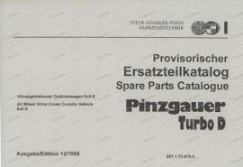 Steyr Puch Pinzgauer Turbodiesel, 6 x 6, Ersatzteilkatalog (Spare Parts Catalogue)