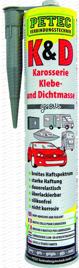 K&D Karosserie Klebe- und Dichtmasse - 310 ml Kartusche grau