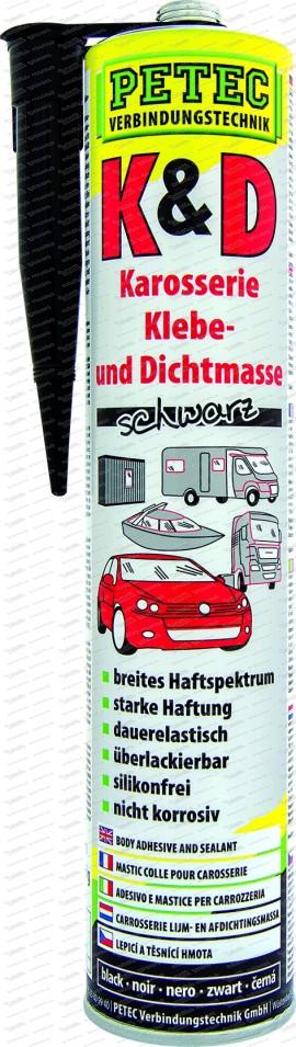 K&D Karosserie Klebe- und Dichtmasse - 310 ml Kartusche schwarz