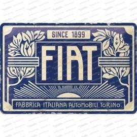Fiat 500 since 1899 - Vintage Logo - Metallschild