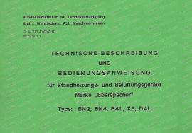 Istruzioni per l'uso del riscaldatore di parcheggio Eberspächer (tedesco)