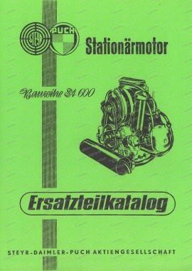 Catalogue de pièces pour moteur stationnaire Steyr Puch ST 600 (allemand)